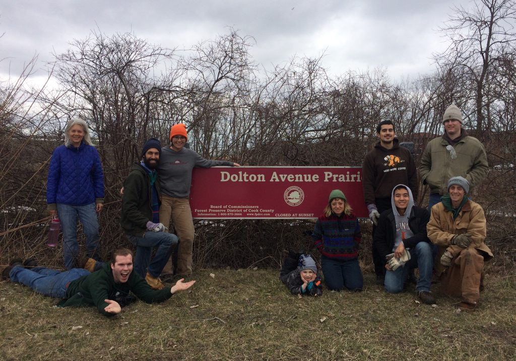 The Dolton Prairie sign gets its first glamour shot with volunteers